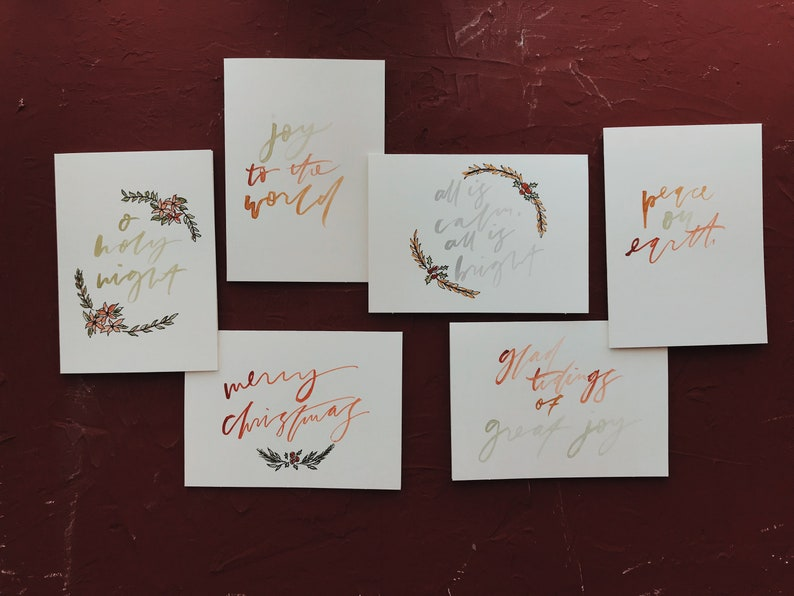 Hand Painted Holiday Cards // Greeting Cards // Christmas image 0