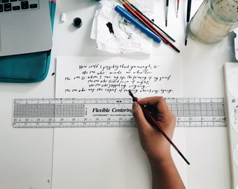 Long Passage Calligraphy // Long Quote Calligraphy // Handwritten Long Quote // Passage Calligraphy // Song Calligraphy