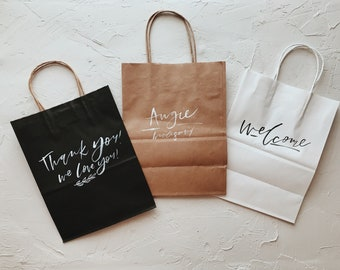 Customized Gift Bags // Custom Calligraphy Gift Bags // Personalized Gift Bags // Custom Calligraphy Bags // Personalized Bags