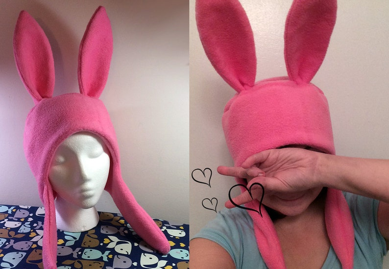 Any Color Bunny Hat Hood Cosplay Rabbit Pink Ears Costume Fleece Anime Manga