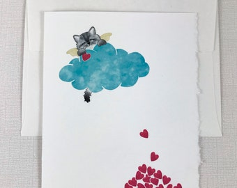 Grumpy Cat - (grey) Sympathy Greeting Card - Cat, Loss, Death - Show your sympathy with this sweet card.