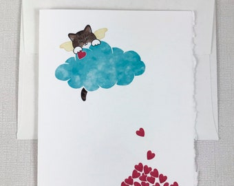 Brown Tabby Cat - (white paws) Sympathy Greeting Card - Cat, Loss, Death - Show your sympathy with this sweet card.
