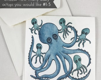 Father's Day Octopus Greeting Card (customize the amount of baby octopi) Send this unique card out to all the special father's out there!