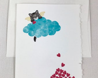 Brown Tabby Cat - (brown paws) Sympathy Greeting Card - Cat, Loss, Death - Show your sympathy with this sweet card.