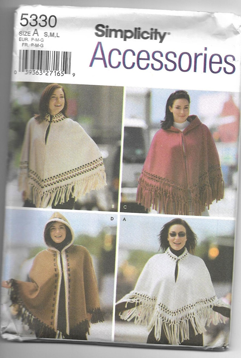 71938f4e6 Simplicity 5330 Misses' Capes and Ponchos Uncut and | Etsy
