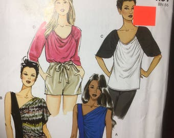 Easy Stitch 'n Save Sns By Mccalls Mccall Pattern 9185 M9185 ~ Misses' Tops | U.S. Lrg-Xxl ~ Uncut Factory Folded