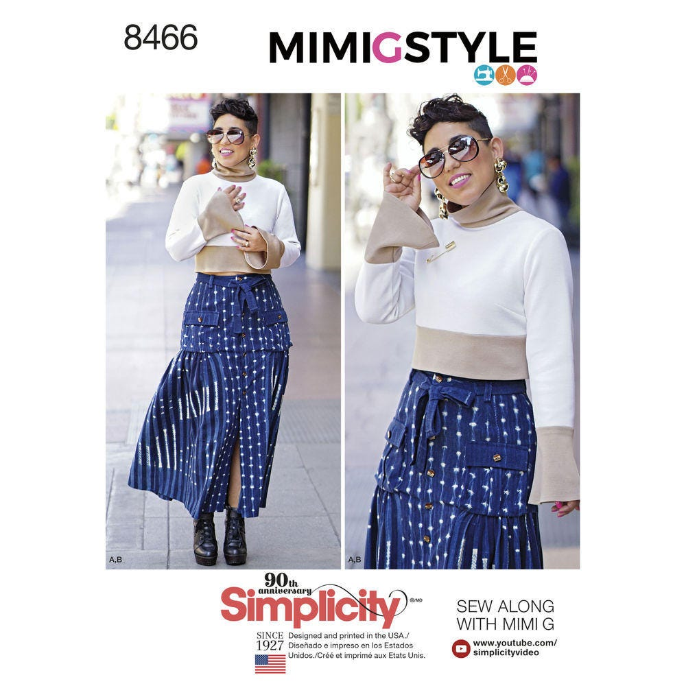 99d4ae29b089f8 Simplicity Pattern D0756   8466 Mimi G Misses  Skirt and