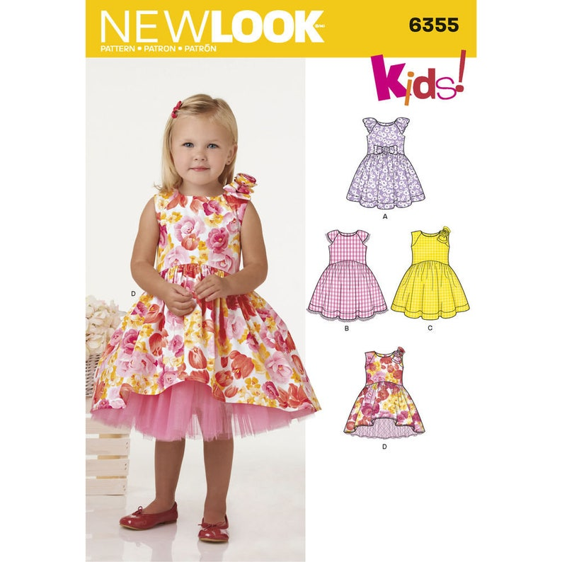 5a6a48cd774f New Look Pattern 6355 Toddlers' Dress with Length | Etsy