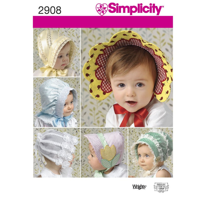 756f80e1d88 Simplicity Pattern 2908 Babies    Toddlers  Hats