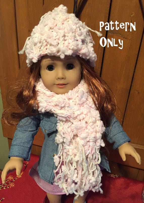 Loom Knit Hat And Scarf Pattern For 18 Inch Doll Instant Etsy