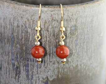 Red Jasper Earrings - Item 1189
