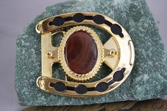 Agate Horseshoe Belt Buckle