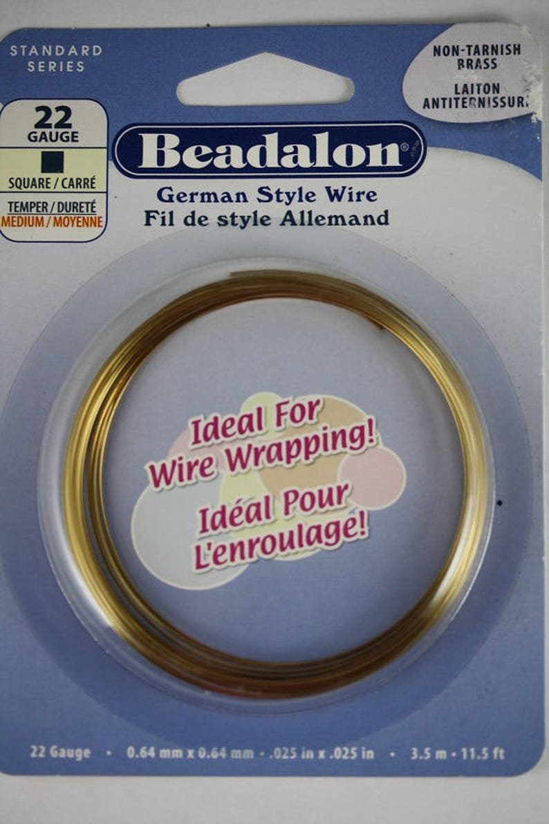 Beadalon 22 gauge square wire Non-Tarnish Brass Christmas In July