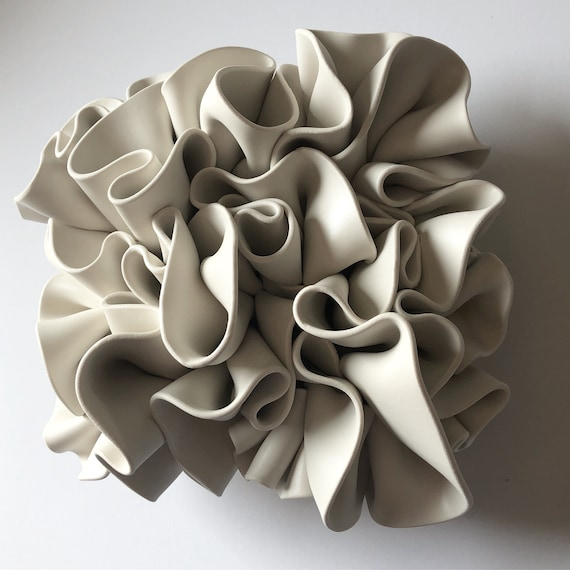 Flow Clay Large Sculpture Tile Wall decor - Fabric Series