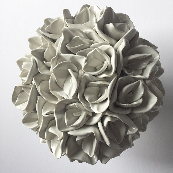 Hydrangea Clay Wall Flower Sculpture