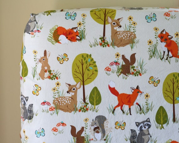 woodland baby nursery bedding mini crib sheet changing pad etsy. Black Bedroom Furniture Sets. Home Design Ideas
