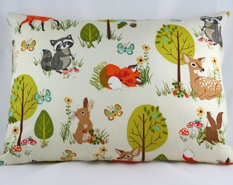 Forest Pillow Cover, Woodland Pillow Cover, Woodland Nursery Pillow Cover, Baby Boy or Girl Nursery Decor, Forest Fellows, Accent Pillow