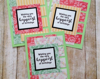 Birthday Card Making Kit Plus EBook Makes 8 Complete Cards