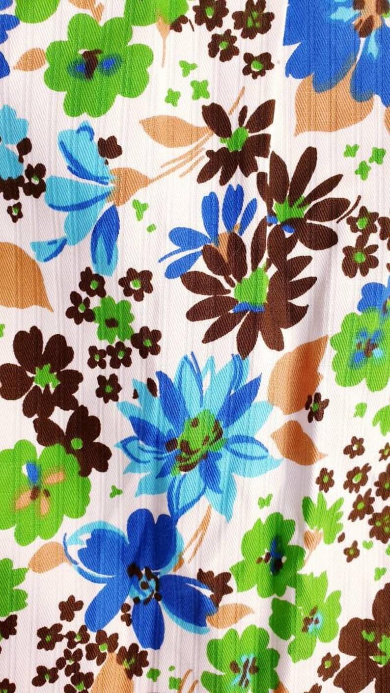 Vintage Maxi Dress Size XS White Floral Summer Dress 1970s Cotton Dress