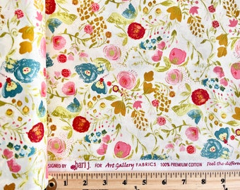 Emmy Grace Budquette Floral in Dayspring by Bari J. - AGF - Art Gallery Fabric Premium Cotton Clearance Sale by the Yard EMG-4607