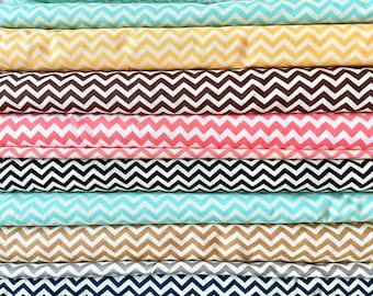 Small Chevron Quilting Cotton Fabric by the yard - Multiple Colors Available - Fabric Destash Sale