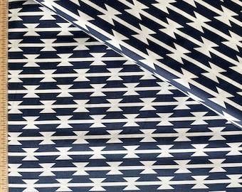 Navy Art Gallery Fabrics Tomahawk Stripe Limited Edition Arizona Fabric by the Yard - April Rhodes ARZ-551 AGF Southwestern Fabric