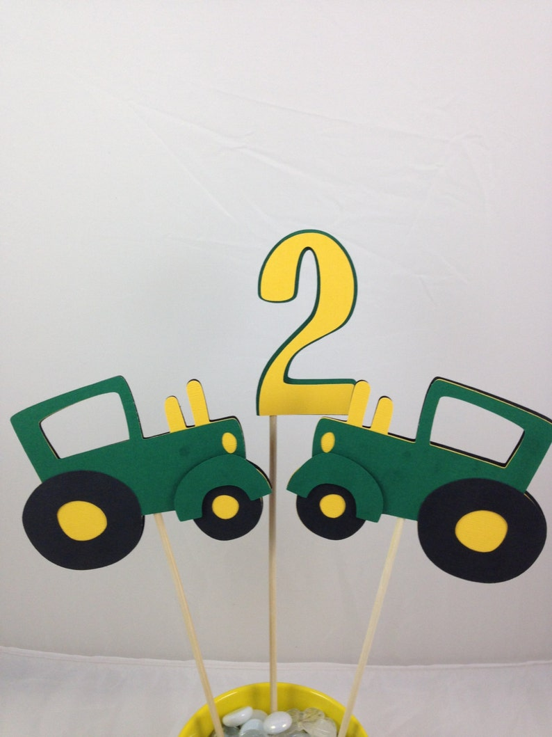 3 Piece Tractor Table Decoration Table Centerpiece Green And Etsy
