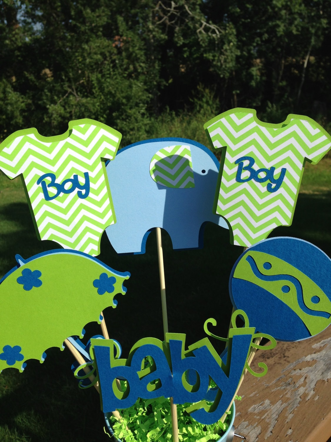Baby Shower Table Decoration Centerpiece It S A Boy Etsy