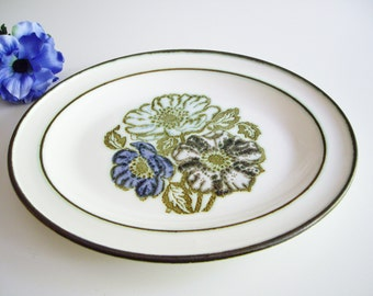 Serving Platter, Vintage Wedgwood, Iona, Blue, Purple, Turquoise, Flowers, Raised Design, Oval Plate, Serving Dish, Made in England