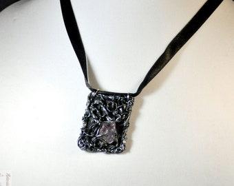 Amethyst Pendant, Elven Pendant, Fantasy Jewelry, Fantasy Necklace, Elven Jewelry, Cosplay Jewelry