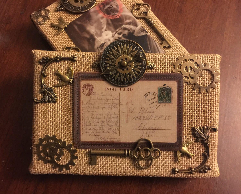 Steampunk Skelett Schlüssel Bilderrahmen viktorianischen