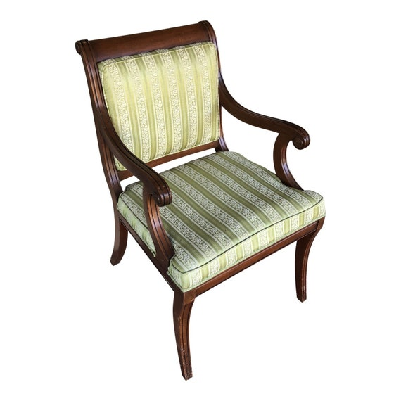Vintage Traditional Wooden Accent Chair