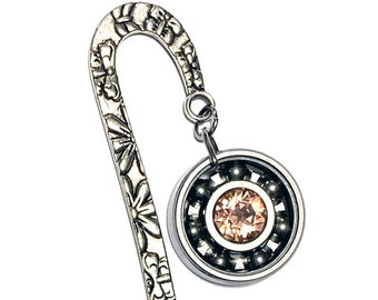 Butterfly Bookmark w/ Your Choice Roller Derby Skate Bearing Pendant