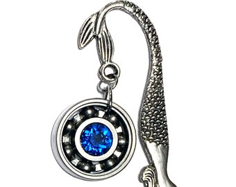 Mermaid Bookmark w/ Your Choice Roller Derby Skate Bearing Pendant
