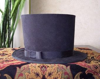 Top Hat Faux Suede Victorian Civil War