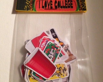 I Love College  Sticker Pack  (free shipping)