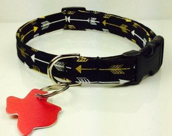 Golden Arrows Dog Collar - Adjustable