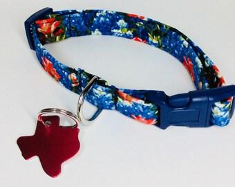 Bluebonnets Dog Collar - Adjustable