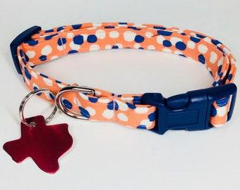 Atomic Tangerine Dog Collar - Adjustable