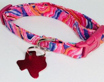 Sherbert Swirl Dog Collar - Adjustable