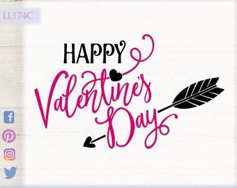 Happy Valentine S Day Taken Heart Arrow Svg Dxf Png Etsy