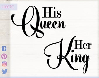 His Queen Her King Svg.His Queen Svg Etsy