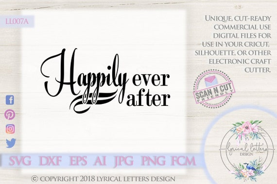 Happily Ever After Fairy Tale Wedding Ll007 A Svg Dxf Fcm Ai Etsy