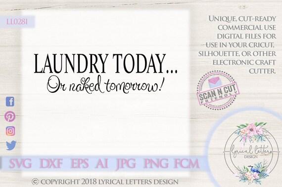 Laundry Today Or Naked Tomorrow Laundry Room Ll028 I Svg Dxf Etsy