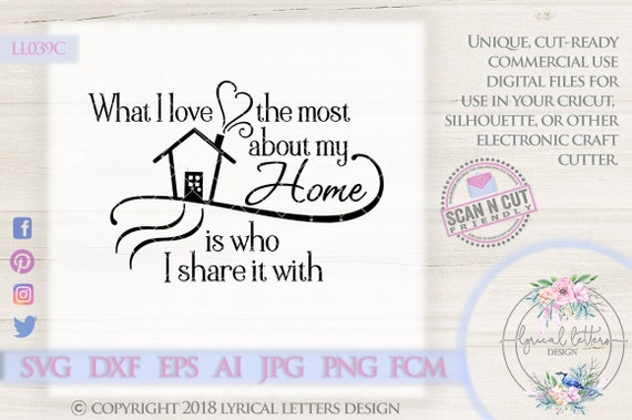 What I Love Most About Home Ll039 C Svg Dxf Fcm Ai Eps Png Etsy
