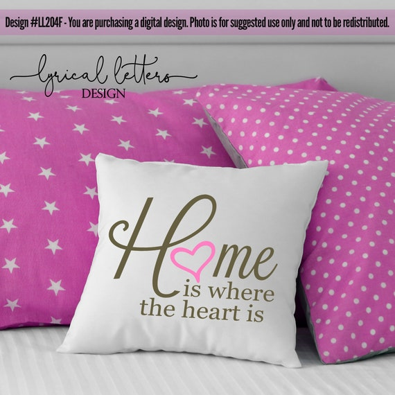 Home Is Where The Heart Is Ll042f Svg Dxf Fcm Ai Eps Png Etsy