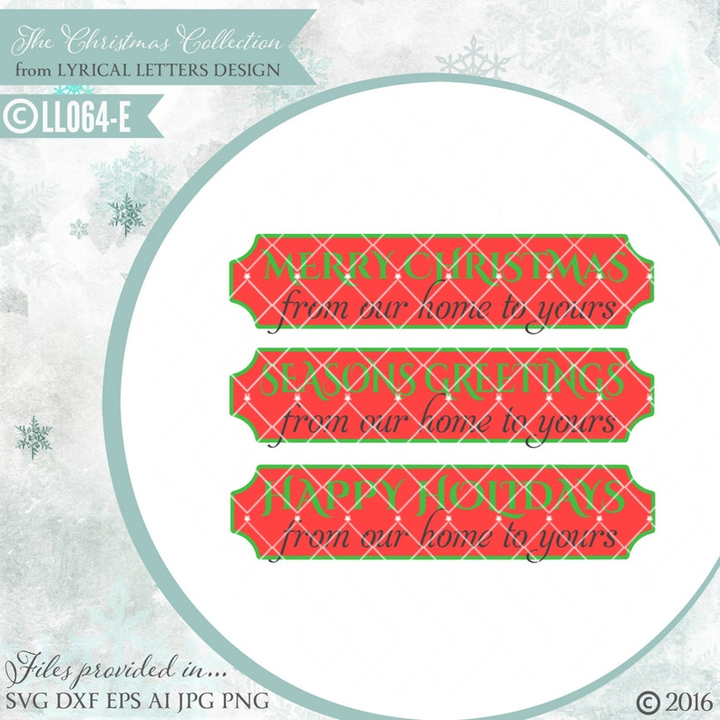 b85df126efe40 Merry Christmas From Our Home to Yours LL064 E - SVG - Cut File - Includes  ai, svg (for Cricut), dxf (for Silhouette users), jpg, png