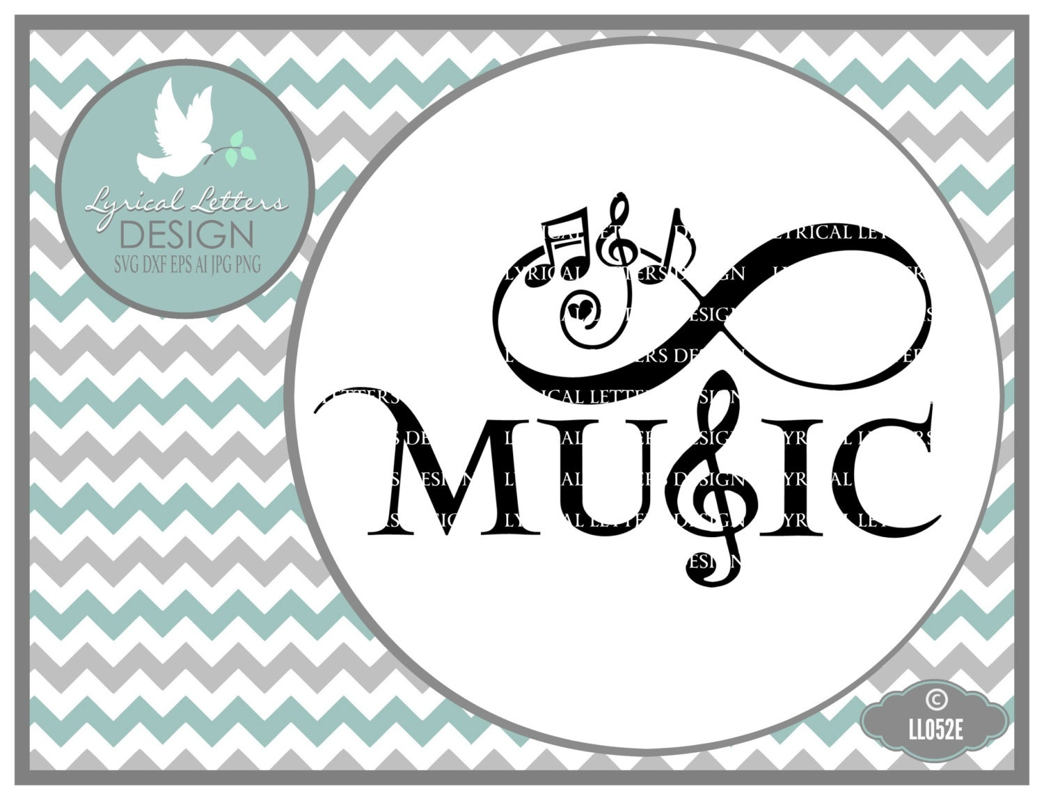 Music Infinity Symbol With Heart Ll052 E Svg Cutting File Etsy