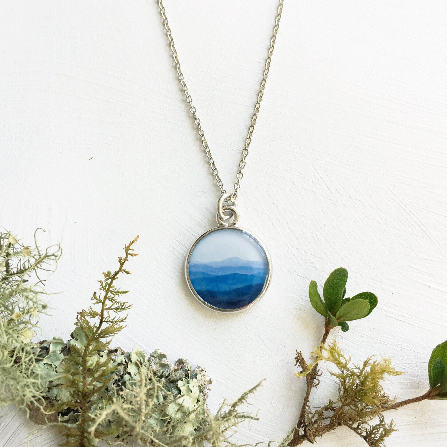 66fc0f96023dd MOUNTAIN NECKLACE | The Mountains are Calling and I Must Go | Silver Blue  Mountain Ridge Jewelry | Go Adventure Go Seeking | Mountain Love