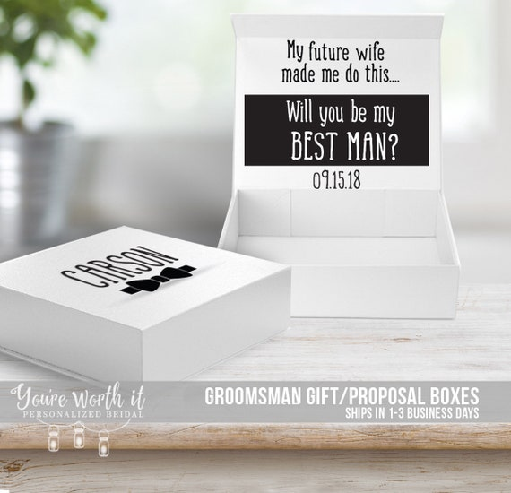 Groomsmen Best Man Box Proposal Groomsman Box Groomsmen Gift Boxes Will You Be My Best Man Box Mbmb 003